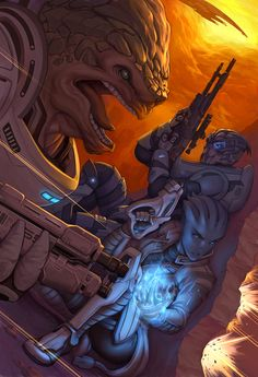 Under Fire by Quirkilicious.deviantart.com #MassEffect