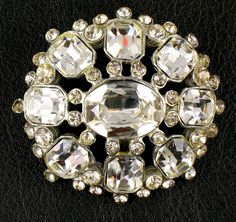 Vintage Rhinestone Pin Brooch With Large And Small by mlbellino, $9.99