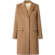 Gérard Darel Masculine Coat, Camel (€245) ❤ liked on Polyvore featuring outerwear, coats, jackets, camel overcoat, knee length coat, gérard darel, over coat and camel coat