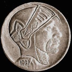 Owen Covert - Knight Hobo Nickel, Buffalo, Knight, Auction, Water Buffalo, Cavalier, Knights