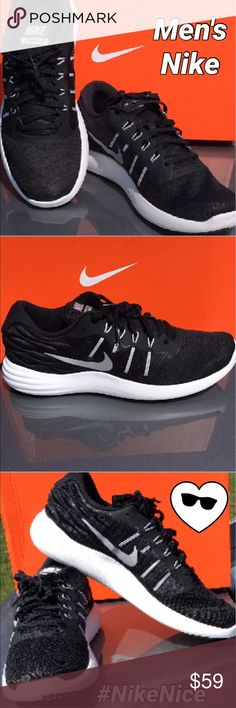 New Men's Nike Black White New Nike for men black with white detail. 😎😎😎😎😎 💰💰💰Price is Firm💰💰💰 Nike Shoes Sneakers
