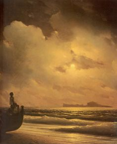 """Ivan Konstantinovich Aivazovsky """"Moonlit Night. Capri"""