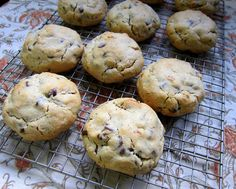 Literally the best chocolate chip cookies ever...I leave out the nuts, sub milk chocolate chips, and add another 1/2 tsp of salt. HEAVEN.