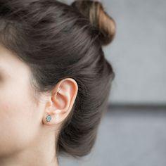 En argent 925 en Stud Hamsa boucle d'oreille, boucle d'oreille Boho Turquoise, Hamsa Turquoise échantillon boucle d'oreille, bijoux de tous les jours-oreille-885