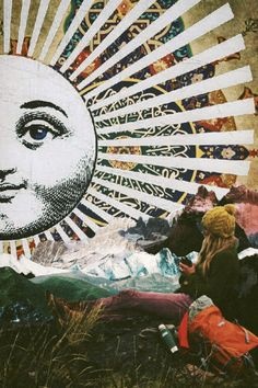 Her The Sun by Ayham Jabr Surreal Mixed Media Collage Art. Art Du Collage, Collage Art Mixed Media, Collage Ideas, Collages, Kunst Inspo, Art Inspo, Art And Illustration, Decoration Tumblr, Wallpaper Bonitos