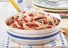 8 Tempting Tomato Recipes: Fresh Tomato & Basil Linguine - Gooseberry Patch