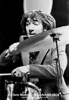The Who  Photo Caption: The WHO 1969 Keith Moon on the Tom Jones TV Show � Chris Walter