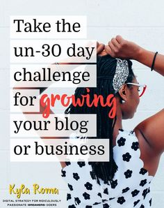 You wouldn't join a gym the week before your wedding - so why should your blog or business? Start the un-30 day blog growth challenge today.