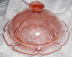 Vintage+Butter+Dish+Pink+Depression+Glass++Candy+Dish