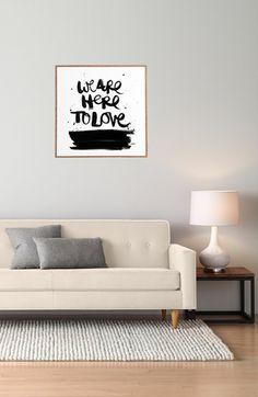 DENY Designs 'Kal Barteski - We Are Here To Love' Wall Art   Nordstrom