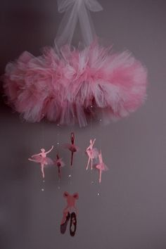 Prima Ballerina Chandelier for a baby girl nursery. Great baby shower gift!