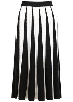 Falda punto rayas verticales-(Sheinside)