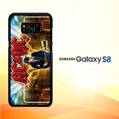 acdc logo wallpaper Y1485 Samsung Galaxy S8 Case