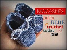 MOCASINES para bebe a CROCHET - TODAS LAS TALLAS - (diestro) - YouTube