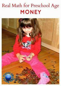 Hands On Activities to teach preschoolers about money Planet Smarty Pants Preschool Classroom, Preschool Learning, Toddler Preschool, Early Learning, Teaching Math, Fun Learning, Preschool Activities, Kindergarten, Maths