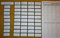 Psicogrammatica Montessori: nomi di animale – Lapappadolce Montessori, Computer Keyboard, Language Arts, Periodic Table, 3 Year Olds, Periodic Table Chart, Computer Keypad, Periotic Table, Keyboard