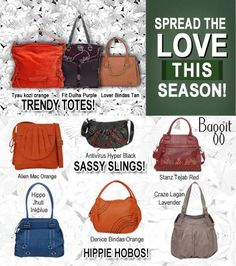 Go ahead and mix up your look this season with fashionable bags.