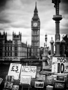 Display of Poscards of London with Big Ben in the background - London - England - United Kingdom Photographic Print by Philippe Hugonnard at AllPosters.com