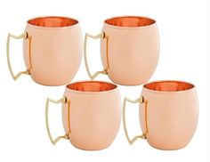 16 oz Solid Copper Moscow Mule Mugs - Set of 4