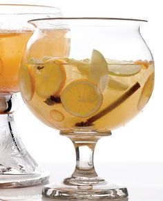Mulled White Wine Sangria - A fall flavored sangria...Pretty and Delicious!!! LOVE SANGRIA!!!!