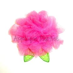 Machine Embroidery Design Applique Tulle Flower In the Hoop INSTANT DOWNLOAD on Etsy, $5.00