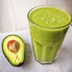 """""""Turbo Express"""" green juice with pineapple, celery, cucumber, spinach, lime, apples and avocado."""