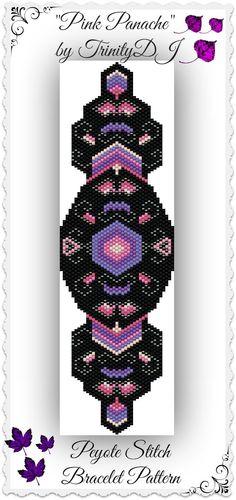 BP-PEY-010 - Pink Panache - Peyote Bracelet Pattern, Peyote Pattern, beadweaving…
