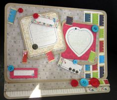 Card for a sewist - lots of buttons needed:)