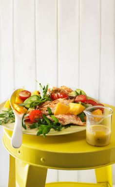Mango-Avocado-Salat mit Hähnchenstreifen