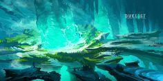 ArtStation - DUELYST - CELANDINE, CRYSTAL CAVERNS, Counterplay Games