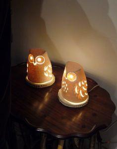 Owl Lamp #owl #Lamp #light Owl Lantern, Ceramic Lantern, Owl Home Decor, Owl Art, Owl House, Decoration, Decorative Bells, Night Light, Best Gifts