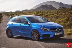 Mercedes-Benz W176 A45AMG 4matic on Vossen VFS2 Wheels | BENZTUNING | Performance and Style