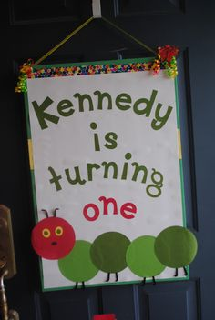 The Very Hungry Caterpillar front door sign
