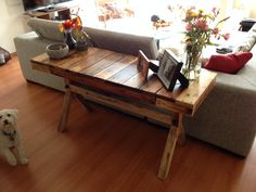 Pallet Side table #PalletTable, #RecycledPallet
