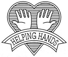 Helping Hands Badge and look, feel, help glasses for lesson on helping others
