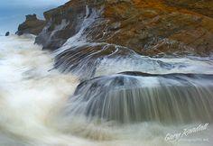 Cape Kiwanda Waterfalls in Cape Kiwanda / Pacific City Oregon Pacific City Oregon, Oregon Coast, Cape Kiwanda, Oregon Waterfalls, Evergreen Forest, Covered Bridges, Great Photos, Places To See, Landscapes