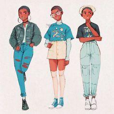 60 Ideas For Drawing Reference Couple Character Design Cute Art Styles, Cartoon Art Styles, Black Girl Art, Art Girl, Eye Manga, Kleidung Design, Dibujos Cute, Animation, Pretty Art
