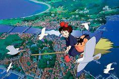 hayao miyazaki anime Princess Mononoke Ponyo spirited away Kiki Studio Ghibli Quotes, Studio Ghibli Films, Art Studio Ghibli, Hayao Miyazaki, Kiki Delivery, Kiki's Delivery Service, Film Animation Japonais, Film D'animation, Manga Artist