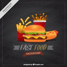 fondo del menú de Burger Vector Gratis