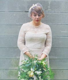 Vintage wedding hairstyle for short hair with a fringe - photographed by Benjamin Stuart Photography
