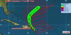 Depression 7 Forms In The Caribbean - Home Town Weather - Hurricane Central