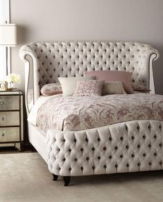 I love this beautiful tufted baroque bed. #beds #bedrooms #rococo #affiliate