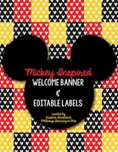 This is an adorable Mickey Mouse set of labels and welcome banner for any classroom! Your kiddos will go crazy when they see Mickey!! The labels are fully editable with 2 different sizes.Check out my Disney Quote Posters here:Inspirational Walt Disney QuotesPlease leave feedback if you purchase!