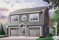 Garage apartment plans are closely related to carriage house designs. Typically, car storage with living quarters above defines an apartment garage plan. View our garage plans. House Plans And More, Modern House Plans, Small House Plans, House Floor Plans, Plan Garage, Garage Loft, Garage Ideas, Dream Garage, Garage Apartment Plans