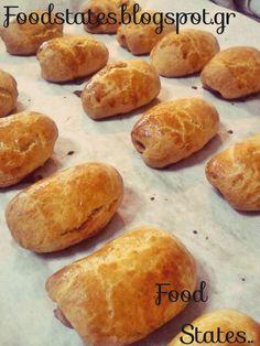 Λουκανικοπιτάκια- Πιτάκια School Snacks, Appetizers, Cooking Recipes, Bread, Blog, Savoury Pies, Pastries, Cakes, Decor