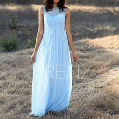 2016 Light Blue Bridesmaid dress Long, Empire Waist Wedding dress, Chiffon Illusion Maxi dress, Sweetheart Prom dress foor length (T133) by RenzRags on Etsy https://www.etsy.com/listing/248171659/2016-light-blue-bridesmaid-dress-long