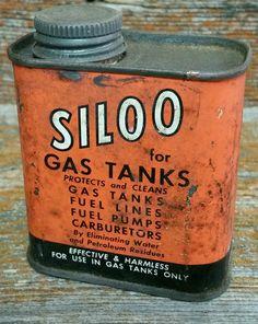 Vintage Siloo Tin, Collectible Tin, Automotive Product Tin, Gas Tank Cleaner Tin by EmptyNestVintage on Etsy