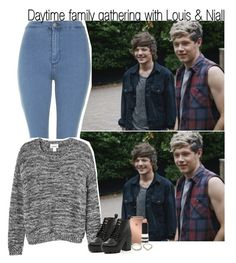 """Daytime family gathering with Louis & Niall"" by rowenafsouriya ❤ liked on Polyvore featuring Topshop, Monki, Mura and River Island"