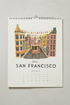 Rifle Paper Co San Francisco from their Travel America 2014 Calendar.