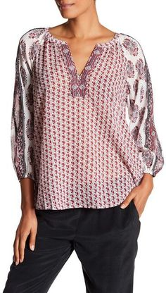 Soft Joie Randeigh Sheer Floral Blouse